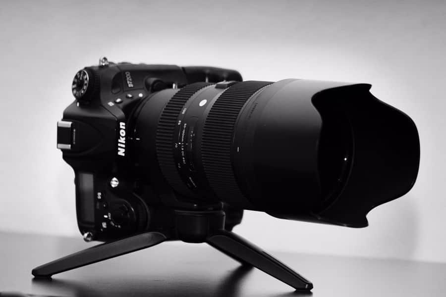 Nikon camera with zoom lens